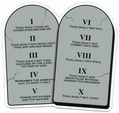 Ten commandments lessons for adults