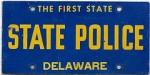 Delaware State Police Plate